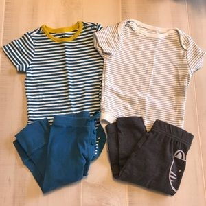 Gap & Old Navy Baby Boy Outfits Sets 4 Pieces 3-6M